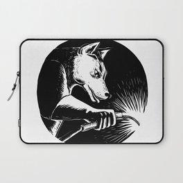 Dingo Dog Welder Scratchboard Laptop Sleeve