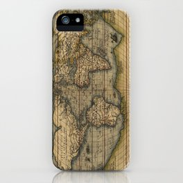 Antique Map of North and South America iPhone Case