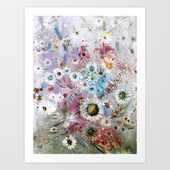 Field of Daisies 2 Art Print