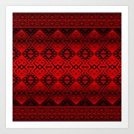 The Lodge (Red) Art Print