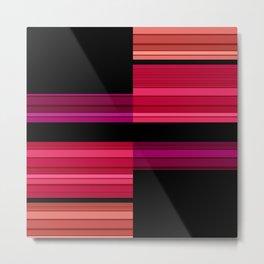An abstract geometric pattern . Alex 3 Metal Print