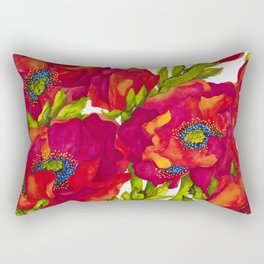 Bold Poppies Rectangular Pillow