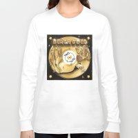 black and gold Long Sleeve T-shirts featuring Black Gold by Nikola Kolobaric