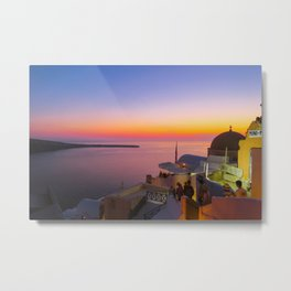 Sunset in Oia,Santorini Metal Print