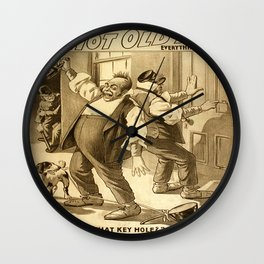 Vintage poster - A Hot Old Time Wall Clock