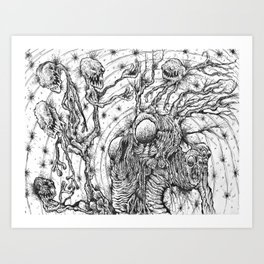 Gathering of lost souls Art Print