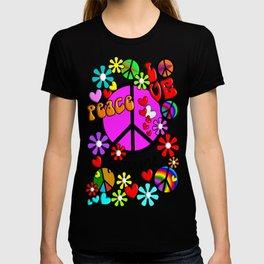 Imagine Peace Sybols Retro Style T-shirt