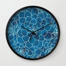 A Sea of Sedum Wall Clock