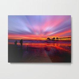 Sunset * Huntington Beach, California Metal Print