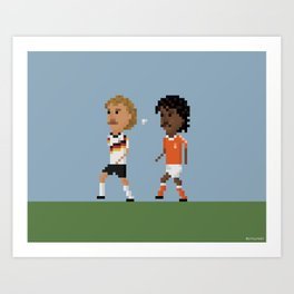 Rijkaard spits on Völler Art Print