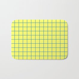 Yellow and Blue Grid - more colors Bath Mat