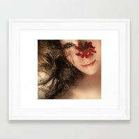 hippy Framed Art Prints featuring Hippy Chick by SexyEyes69