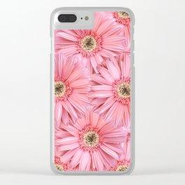 Pink Gerber Pattern | Flowers | Spring | Pop-art Clear iPhone Case