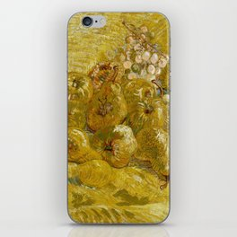 Quinces, Lemons, Pears and Grapes by Vincent van Gogh iPhone Skin