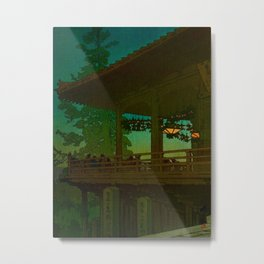 Evening in Nara by Kawase Hasui Japanese Woodblock Print Vintage East Asian Cultural Art Metal Print