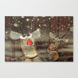 Rudolph The Red Nosed Reindeer and friend Canvas Print