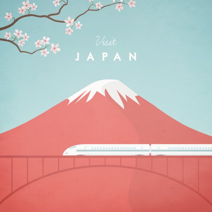 Vintage Japan Travel Poster Duvet Cover