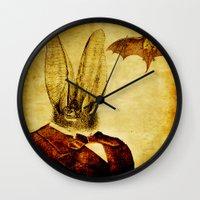 bat man Wall Clocks featuring Bat-Man by Joe Ganech