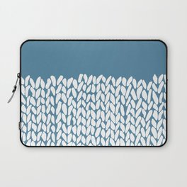 Half Knit Blue Laptop Sleeve