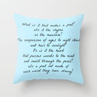 poetry Throw Pillows featuring Poetry by ChasingStars