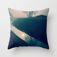 buddhism Throw Pillows featuring Experience by Schwebewesen • Romina Lutz
