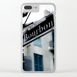 Dumaine and Bourbon - Street Sign in New Orleans French Quarter Clear iPhone Case