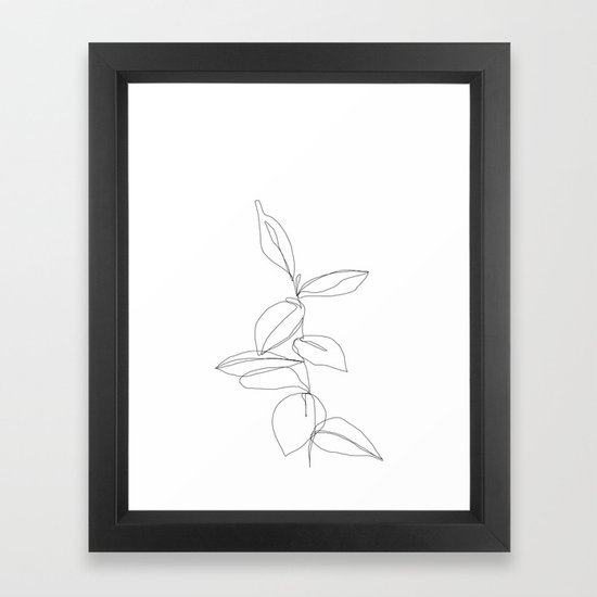 One line minimal plant leaves drawing - Berry by thecolourstudy