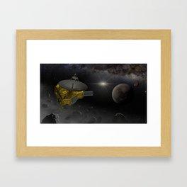 New Horizons space probe fly into Kuiper belt Framed Art Print