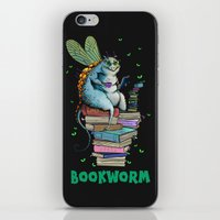 bookworm iPhone & iPod Skins featuring Bookworm by TheVioletWall