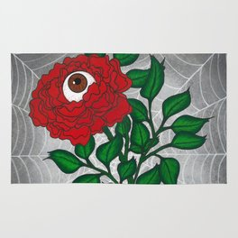 Caught -Eyeball Flower Rug