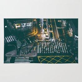 Night walking street 4 Rug
