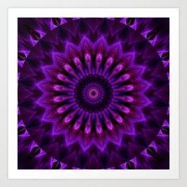 Mandala Crownchakra Art Print