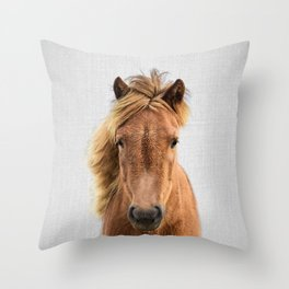 Wild Horse - Colorful Throw Pillow