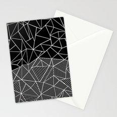 Ab Half and Half Black Stationery Cards