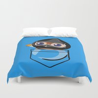 warcraft Duvet Covers featuring Ninja Pepe! by SlothgirlArt