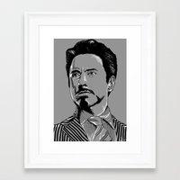 tony stark Framed Art Prints featuring Tony Stark by Hazel