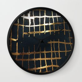 fools grid Wall Clock