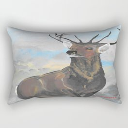 Whitetail Buck Rectangular Pillow