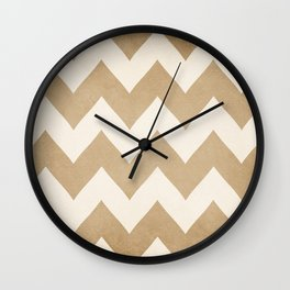 Biscotti & Vanilla - Beige Chevron Wall Clock
