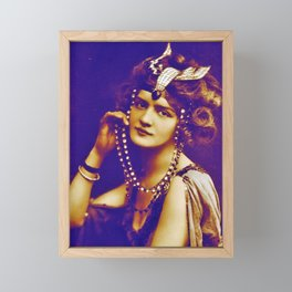 Beauty of Belle Epoque,Lilly Elise Actress,singer, Victorian,art nouveau,edvardian,art deco, movie s Framed Mini Art Print