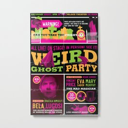 Spook Show Tribute Poster 02 Metal Print