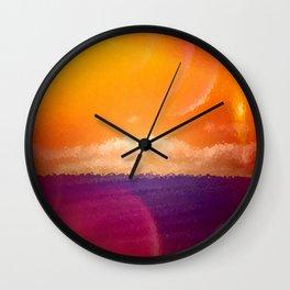 Blue Grass Sea Wall Clock