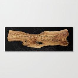 The Endangered Alphabets Banner Canvas Print