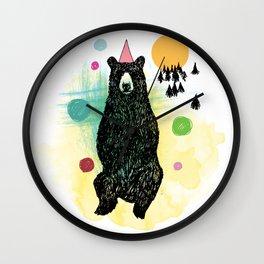 Bear Scape Wall Clock