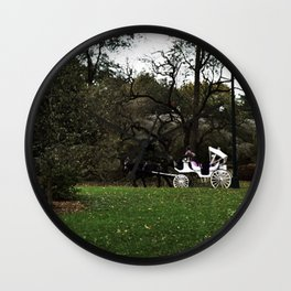 Carriage Rides Wall Clock