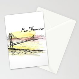 San Francisco. Watercolor and ink. Stationery Cards