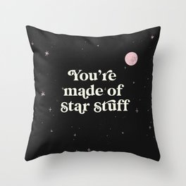 Star Stuff Space Print Throw Pillow