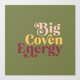 Bi Coven Energy Olive Canvas Print