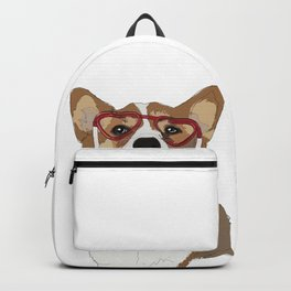 Happy Valentine's Day Corgi Backpack