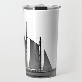 Black and White Sailboat Travel Mug